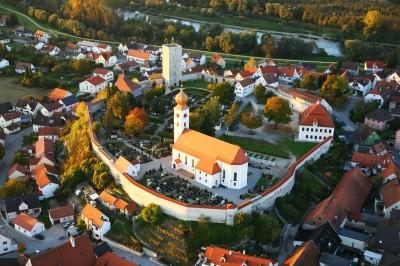 Vohburg-Burgberg-Luftaufnahme